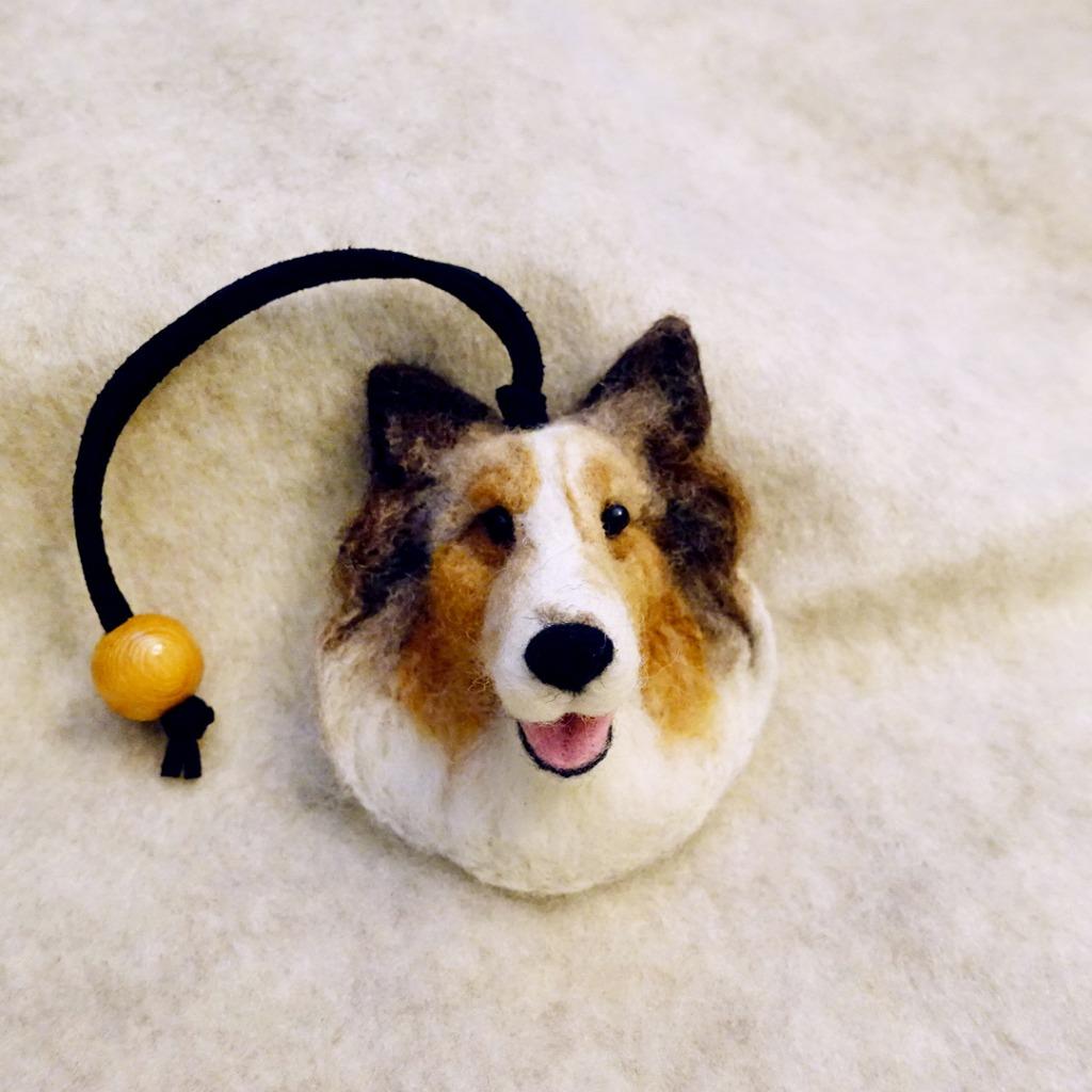 客製化寵物羊毛氈-皮繩掛飾-此為客製款請提供照片(價格固定)