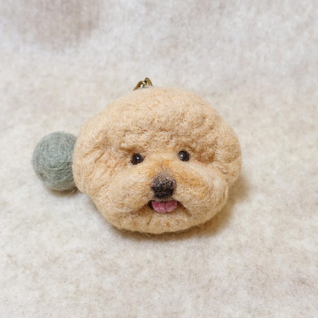 寵物羊毛氈鑰匙圈-毛孩頭部-客製化-請提供照片(價格固定)