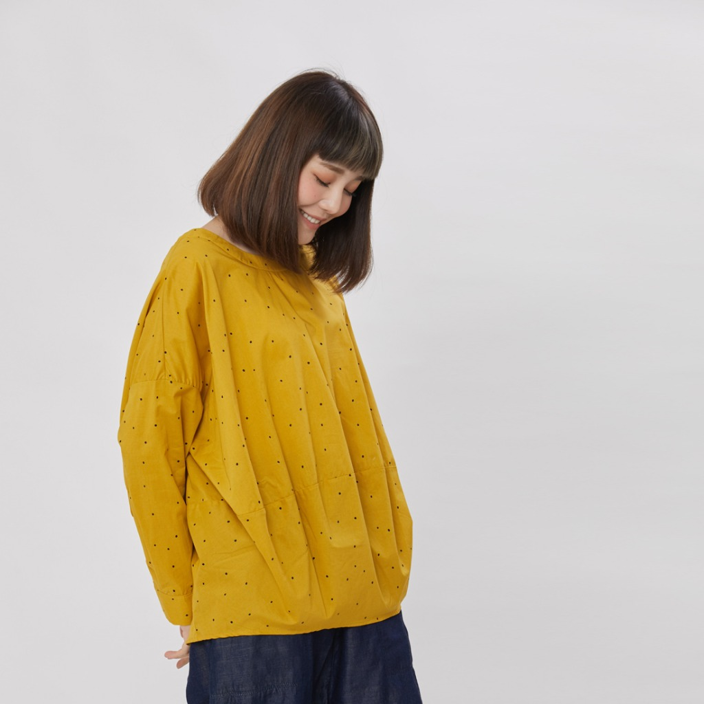 Namiya 球型長袖棉質上衣芥末黃