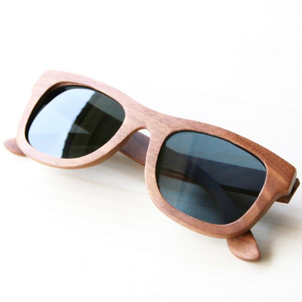 四目偏光實木太陽眼鏡