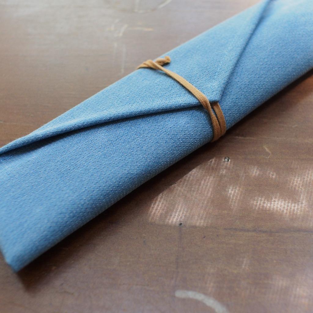 丹寧布袋環保餐具組 - 淺色