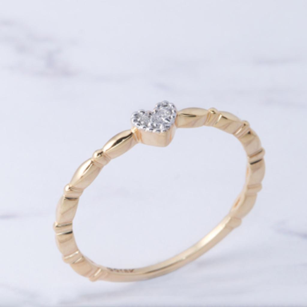 18K黃金 簡潔小愛心戒指