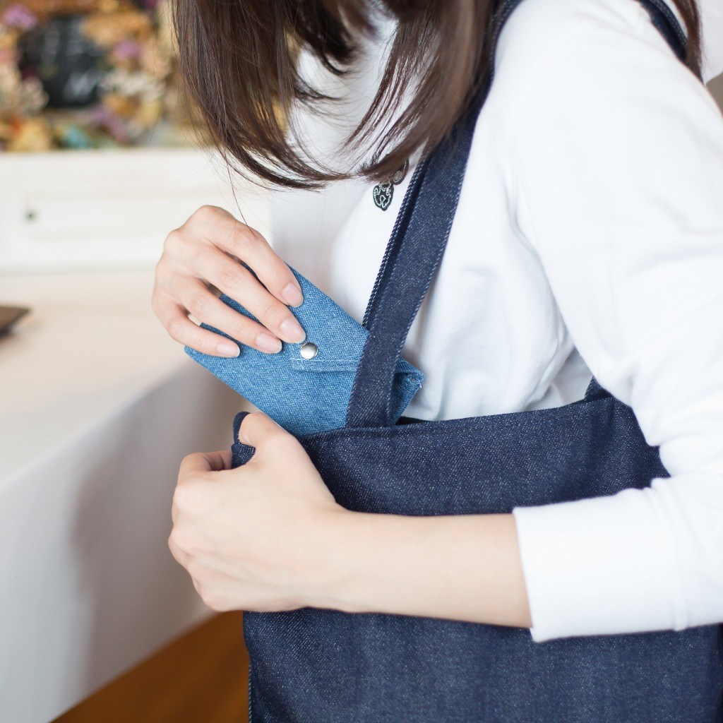 丹寧卡夾/零錢包 - 淺藍