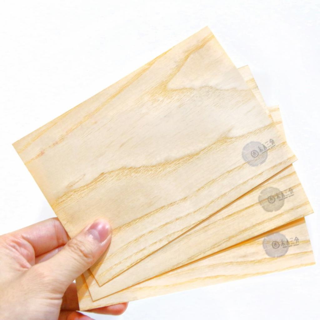 木入明信片。實木的明信片(5入組)