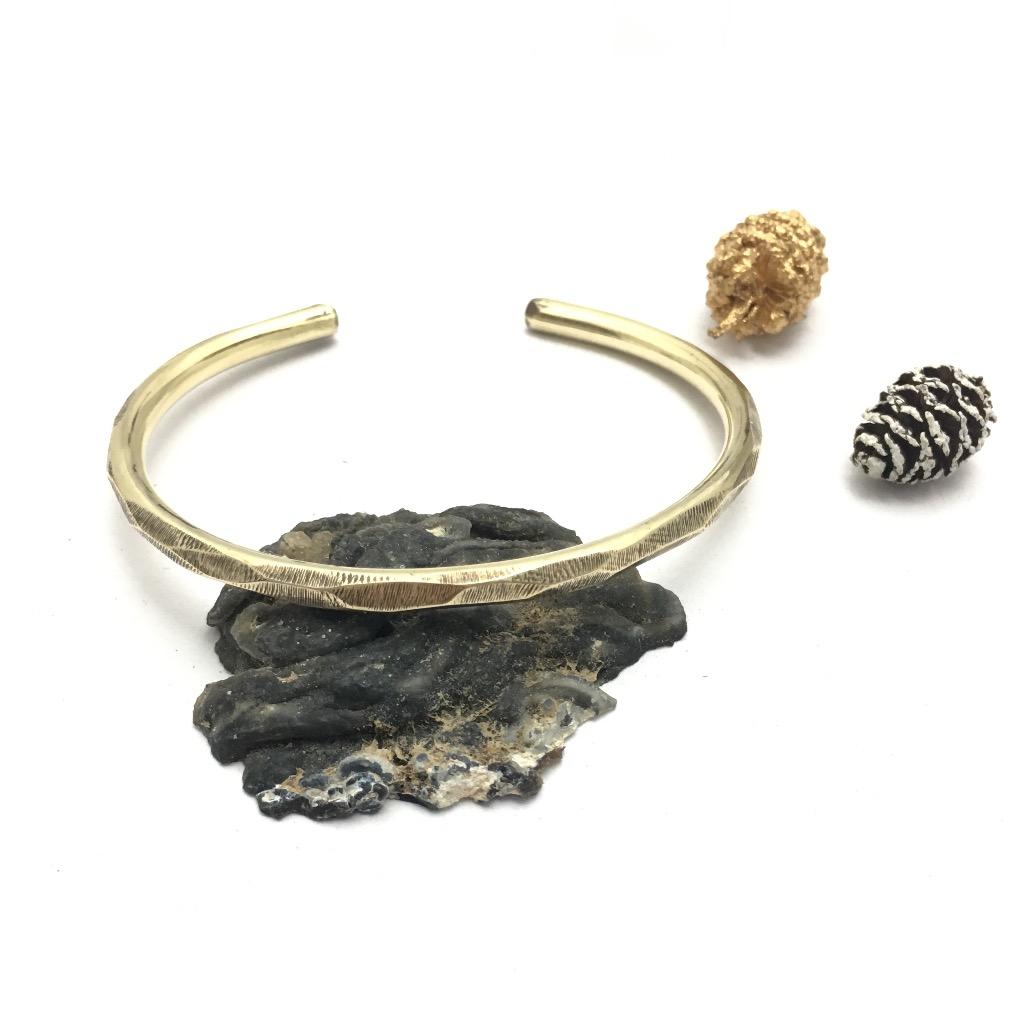 黃銅切面手環
