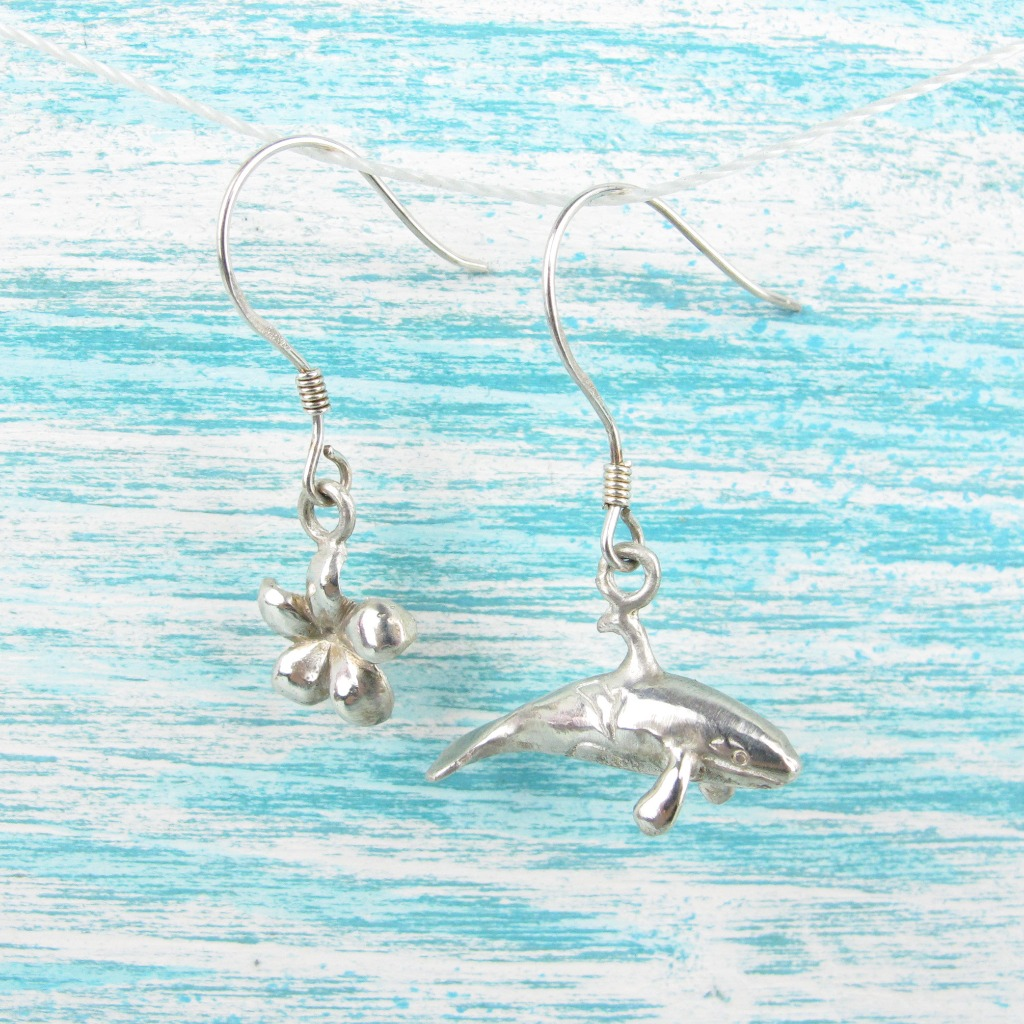 【Diving silver】925銀海洋潛水銀飾--迷你3D殺人鯨耳環