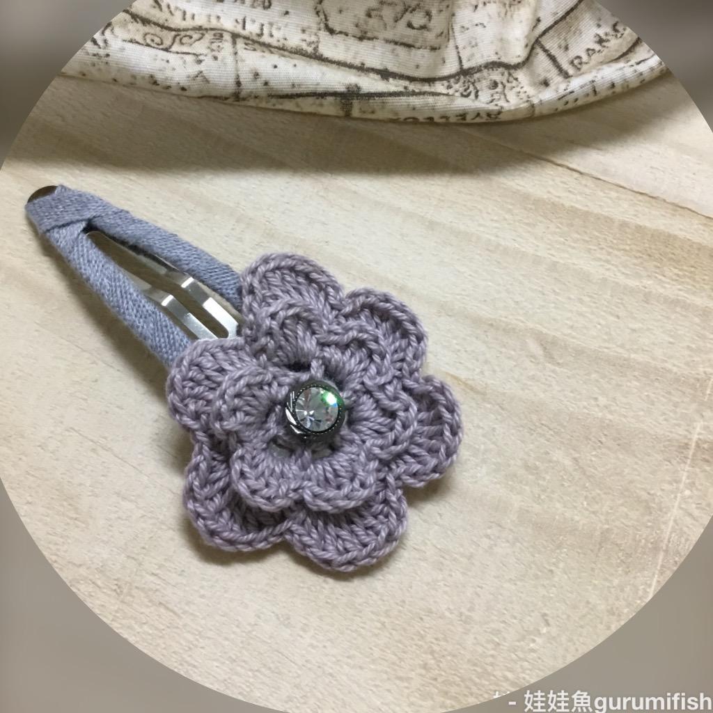 手工蕾絲編織髮飾-藕紫蕾絲