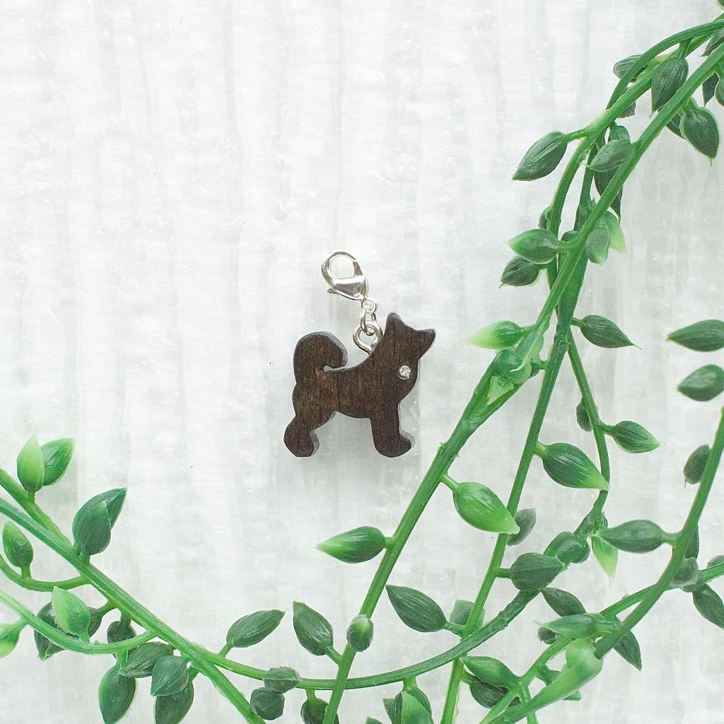 【Honeywood】木製吊飾 》》柴犬。吊飾