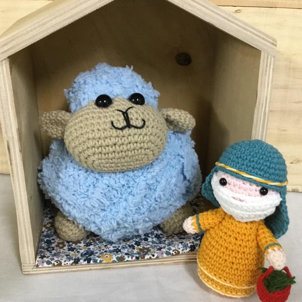 【娃娃魚】**牧羊人與喜樂羊編織玩偶**