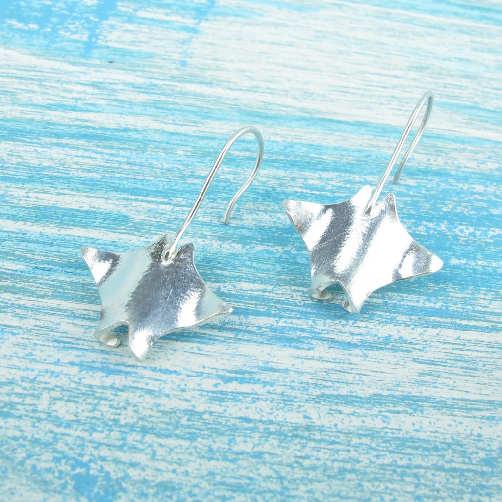 【Diving silver】925銀海洋潛水銀飾--魔鬼魟耳環