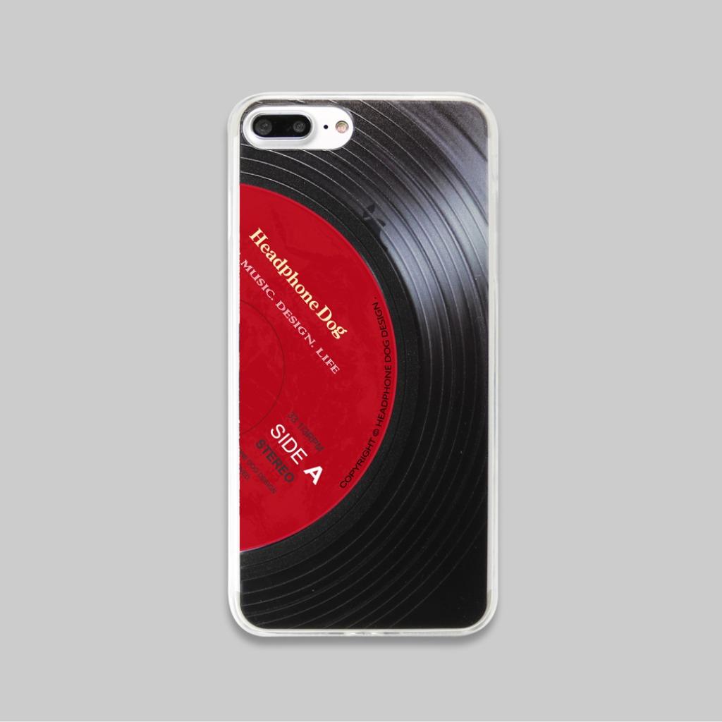 黑膠立體紋路手機殼-經典紅