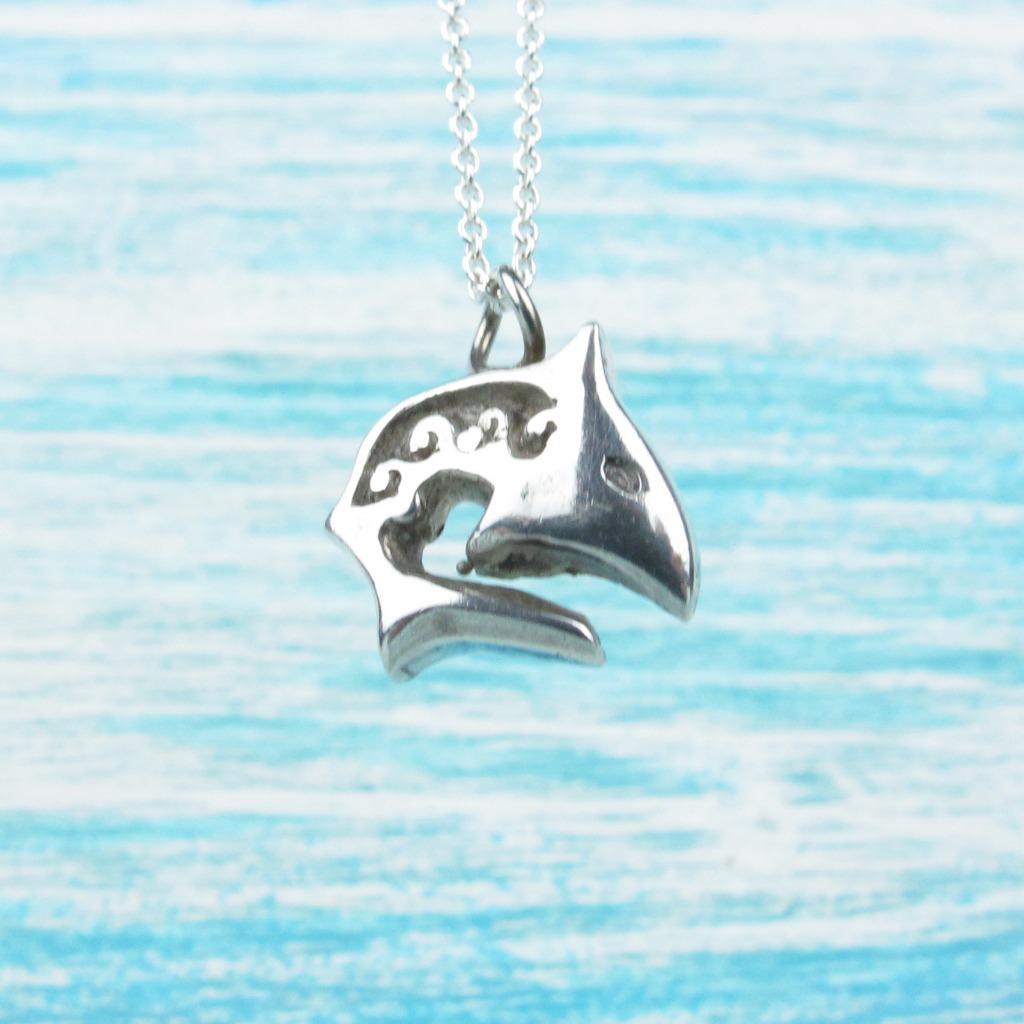 【Diving silver】925銀海洋潛水銀飾--圖騰小鯊魚項鍊