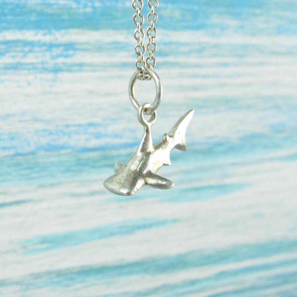 【Diving silver】925銀海洋潛水銀飾--迷你3D鯨鯊項鍊