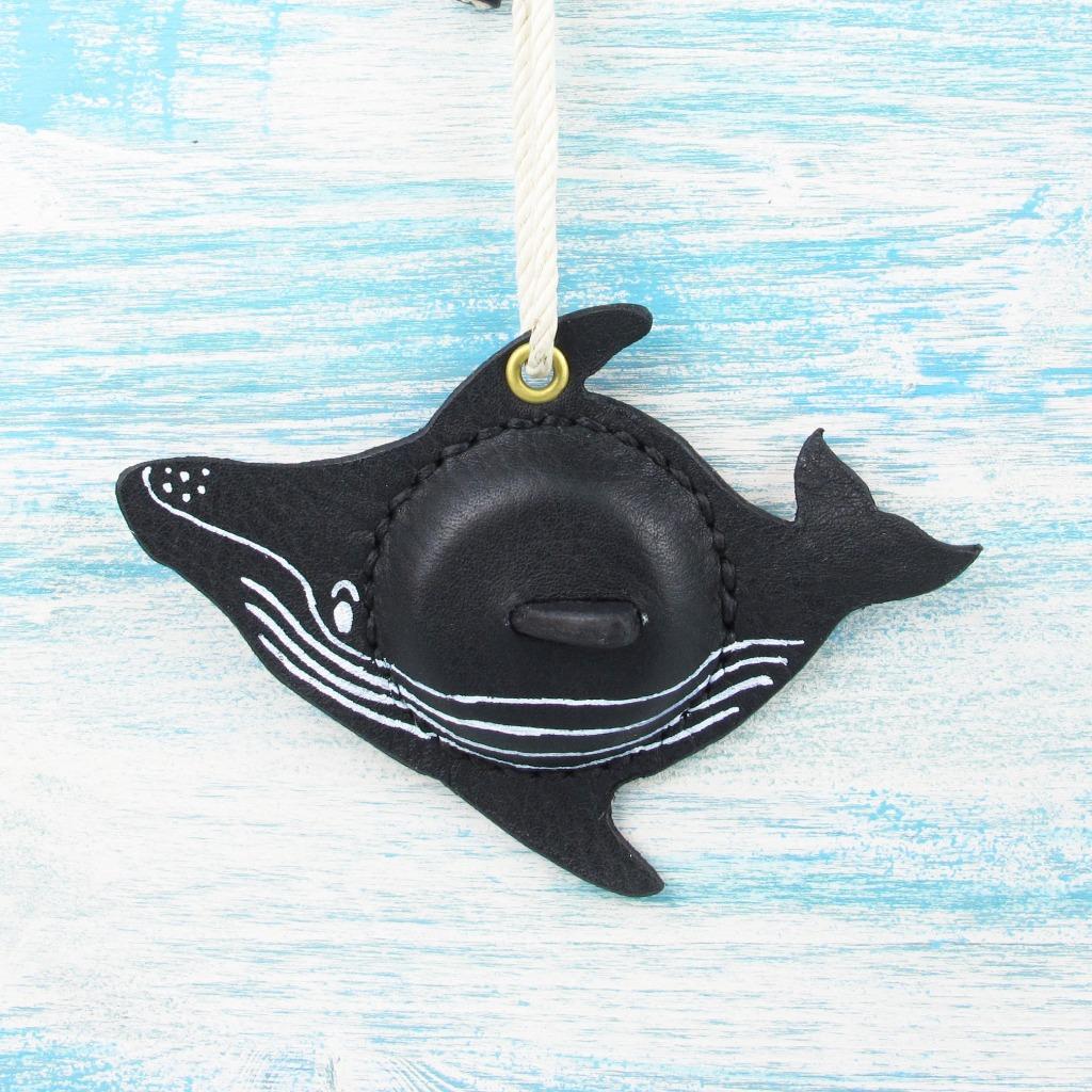 【海洋行李吊牌】手工製作皮件--大翅鯨行李吊牌