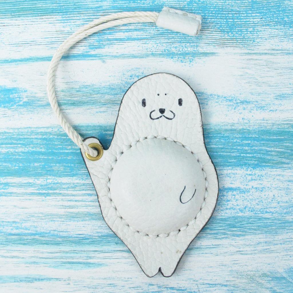 【海洋行李吊牌】手工製作皮件--海狗行李吊牌