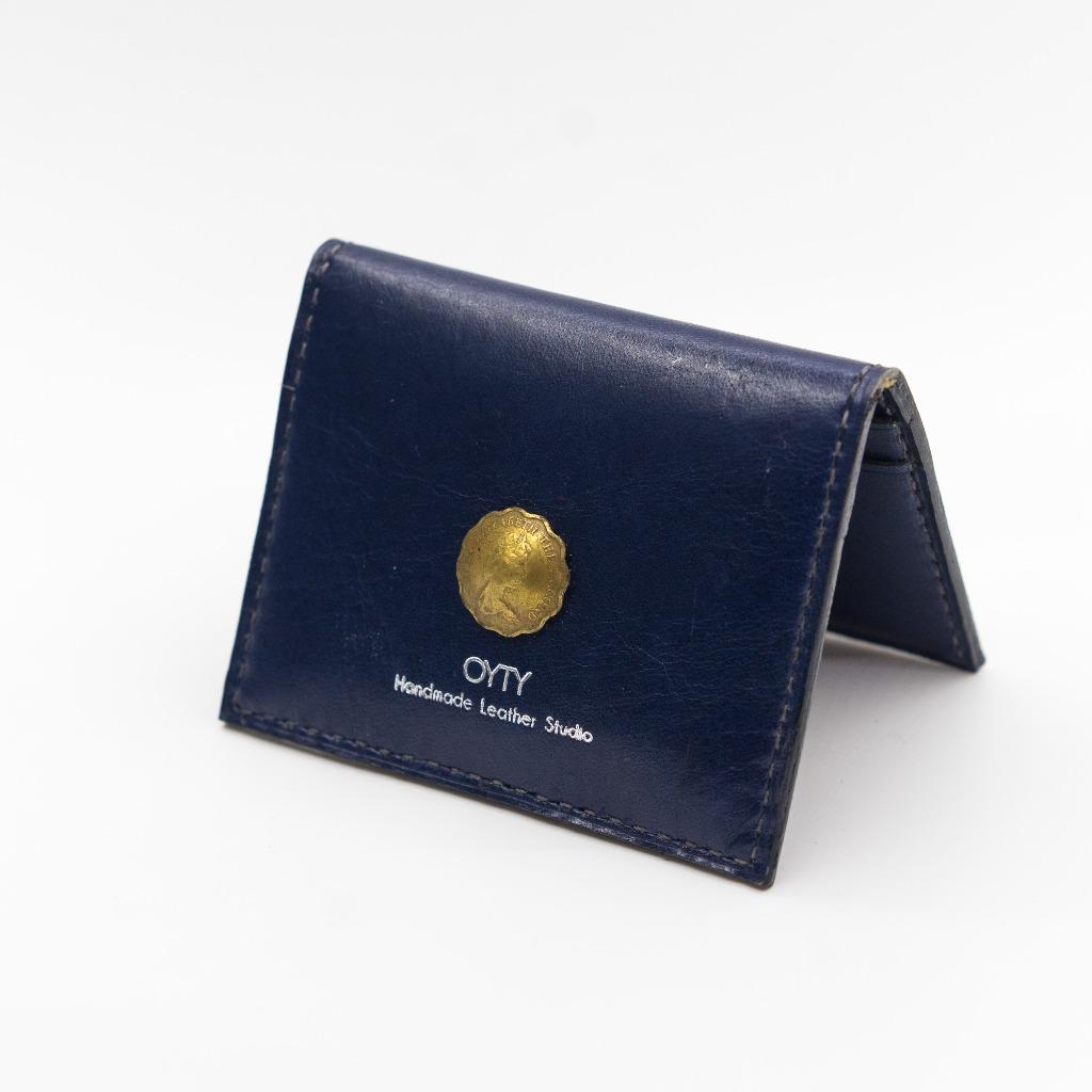 OYTY SS/18 錢幣系列- 深藍色真皮卡套