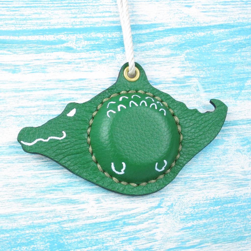 【海洋行李吊牌】手工製作皮件--鱷魚行李吊牌