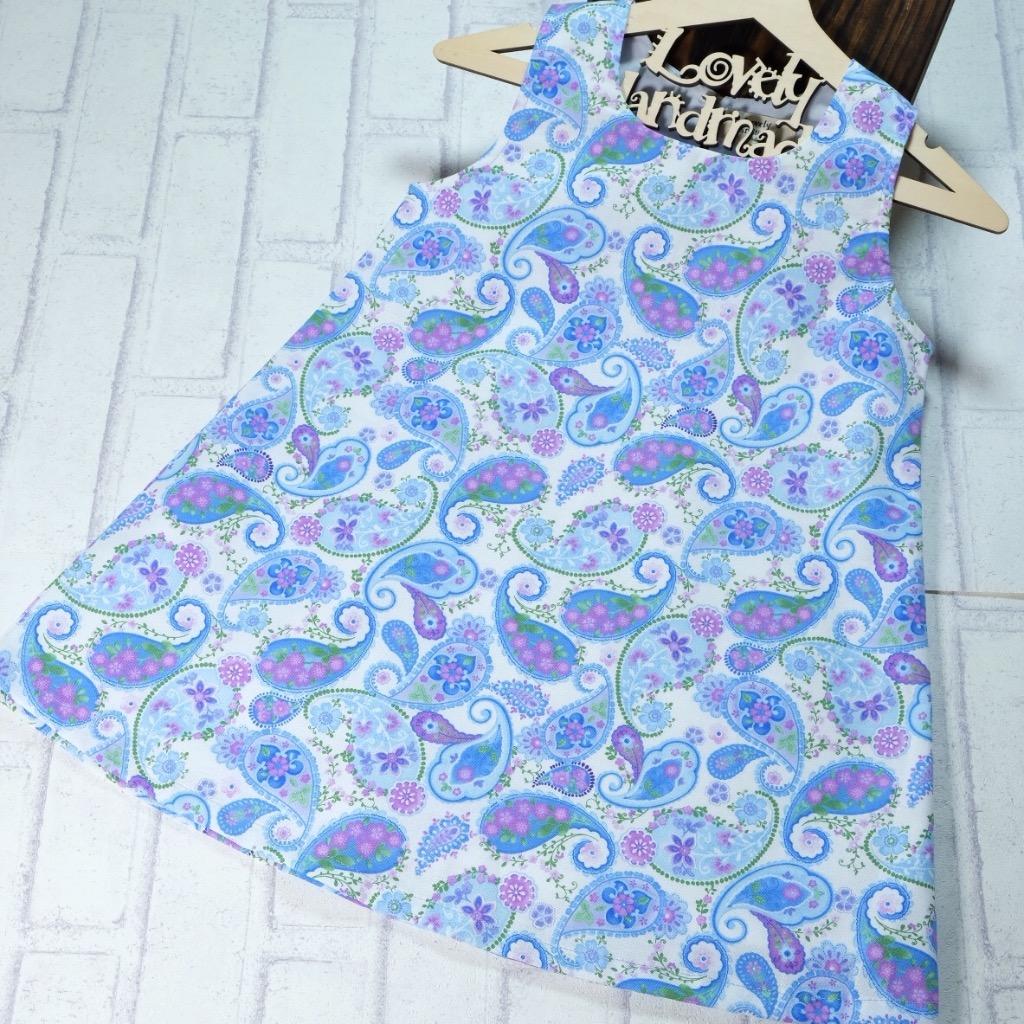 Harmony Paisley Handmade Sleeveless Dress