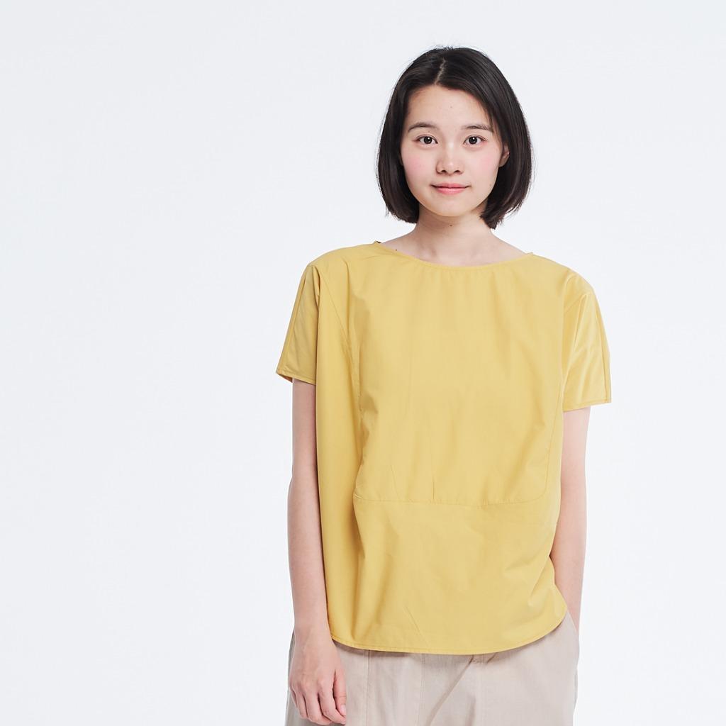 Debbie 方型拼接上衣/檸檬黃