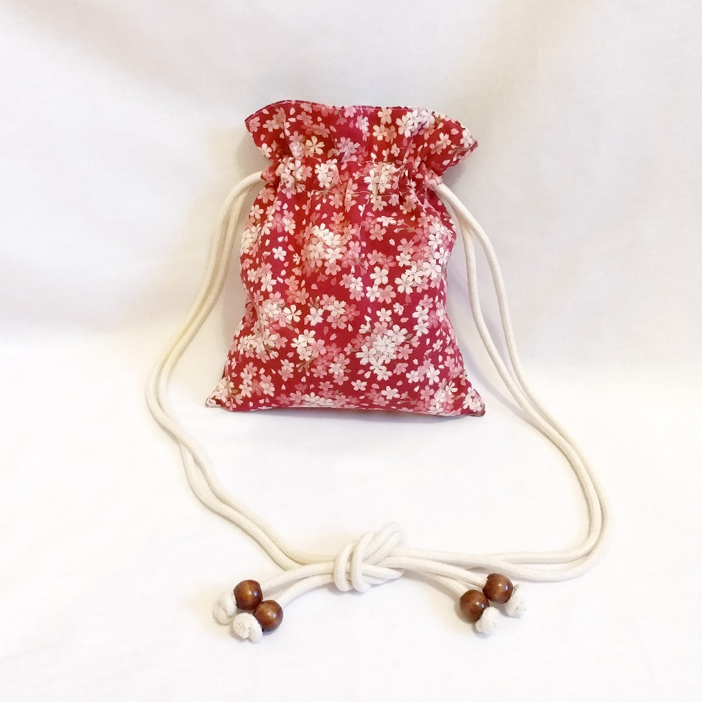 櫻花圖案索繩袋 Sakura Pattern Drawstring Bag