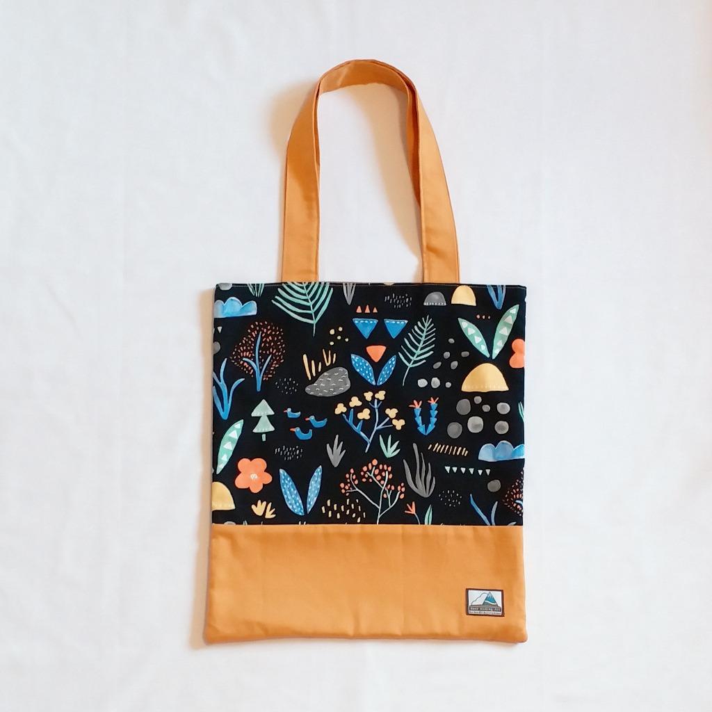 大自然圖案側背布袋  Nature Pattern Cotton Tote Bag