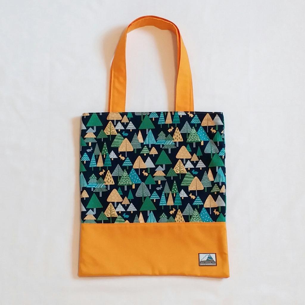 北歐森林圖案側背布袋 Nordic Style Cotton Tote Bag