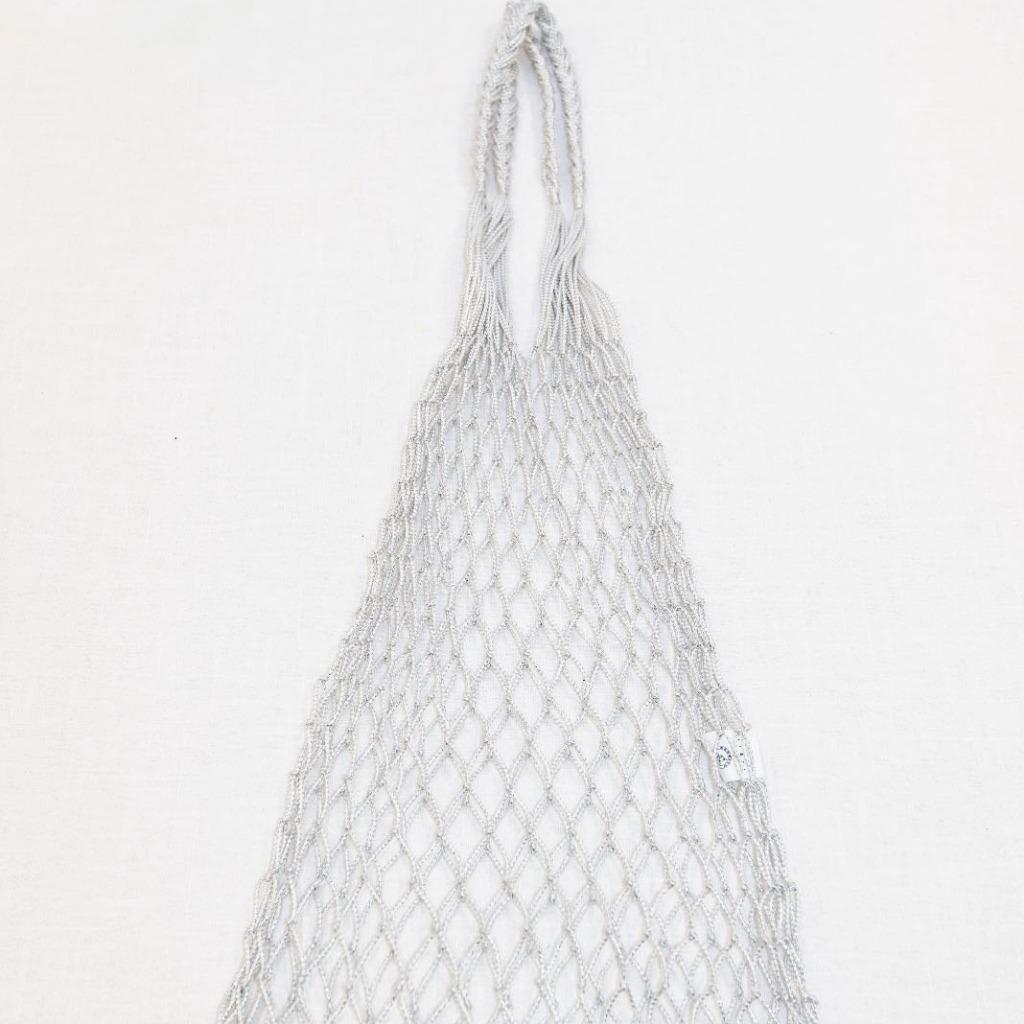 手織漁網袋 (銀色)