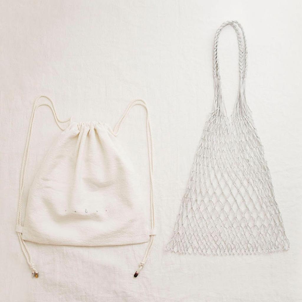 索繩袋配漁網袋套裝 (自選顏色配搭)