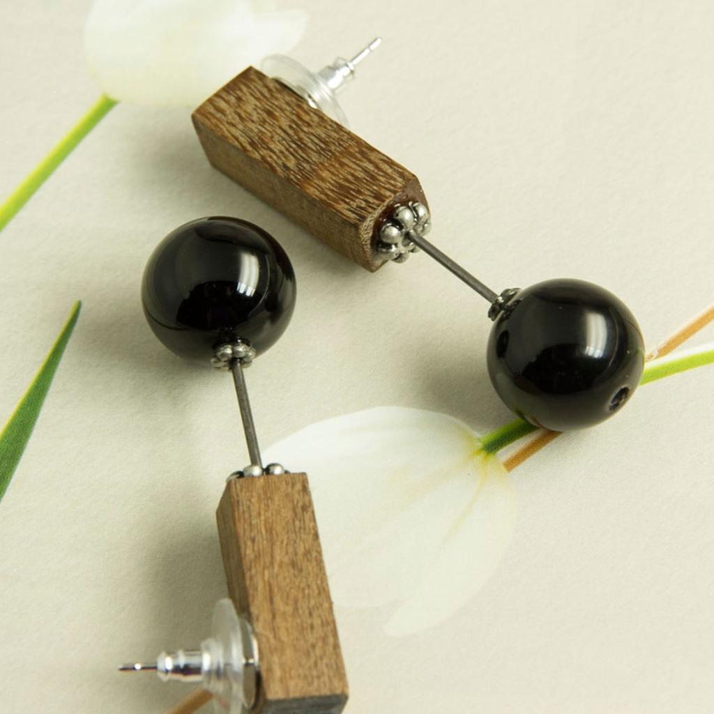 文青手作復古美感幾何針式耳環AG Fashion