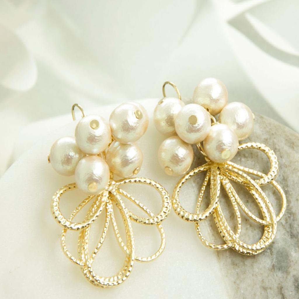 日本棉珍與歐洲金工 人魚眼淚 幻影針式耳環AG Fashion
