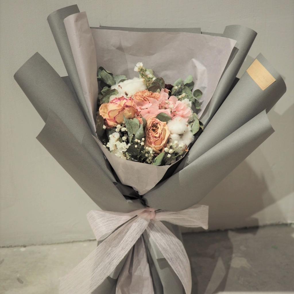 保鮮花乾花束