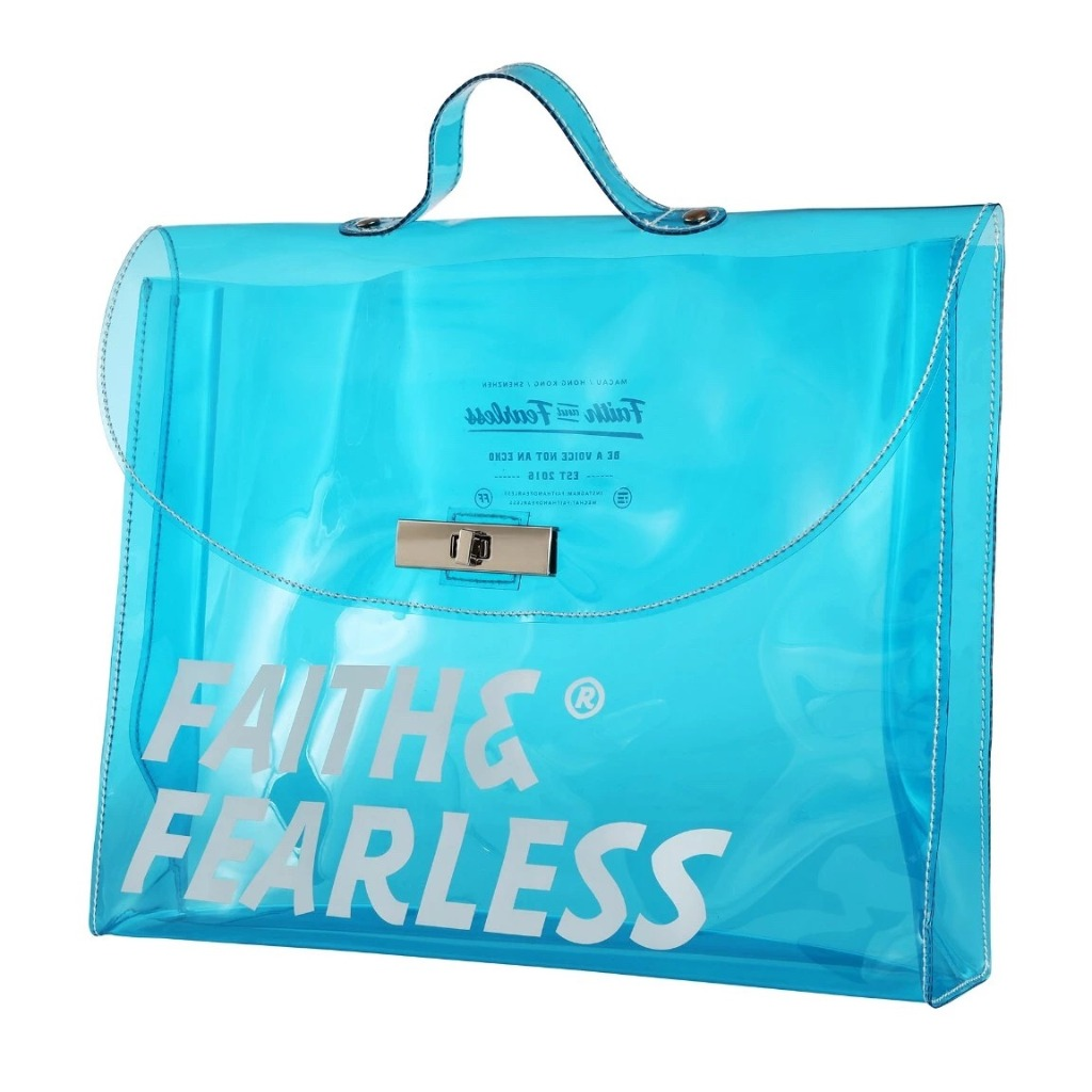 Faith & Fearless PVC FOLDER BAG BLUE 公文袋