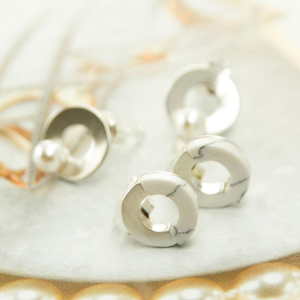 輕奢全純銀飾系列 -施華洛世奇水晶與閃雲石耳飾
