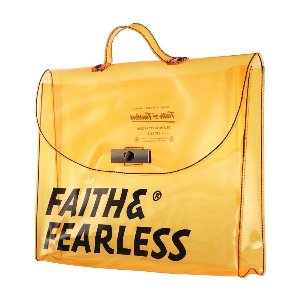 Faith & Fearless PVC FOLD ORANGE 公文袋