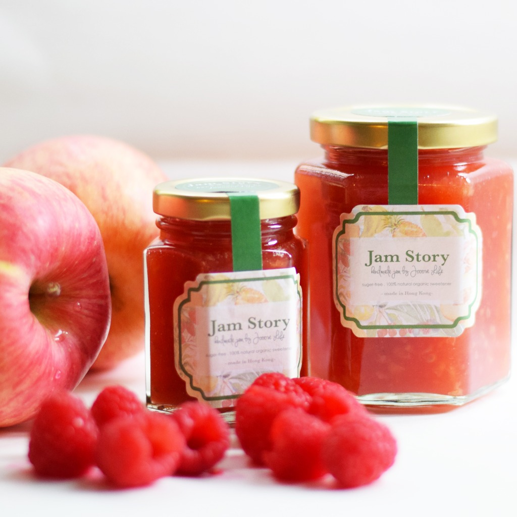 無糖蘋果紅莓果醬 Sugar free Apple Raspberry Jam (100g)