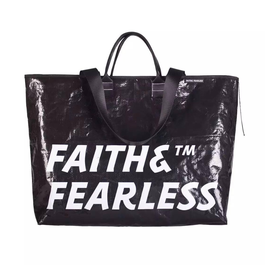 Faith & Fearless_Pop Bag袋(黑珍珠)