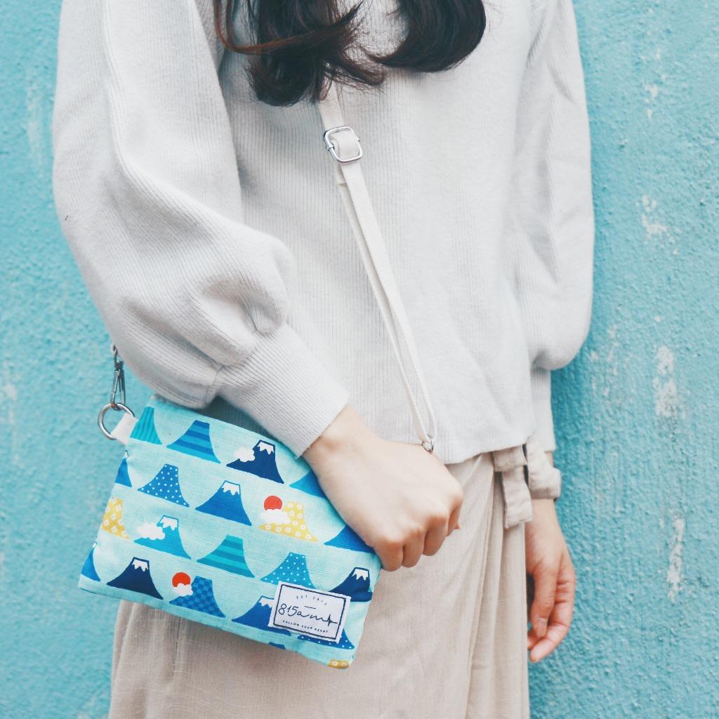 淺藍彩色富士山 兩用雜物袋  | 815a.m