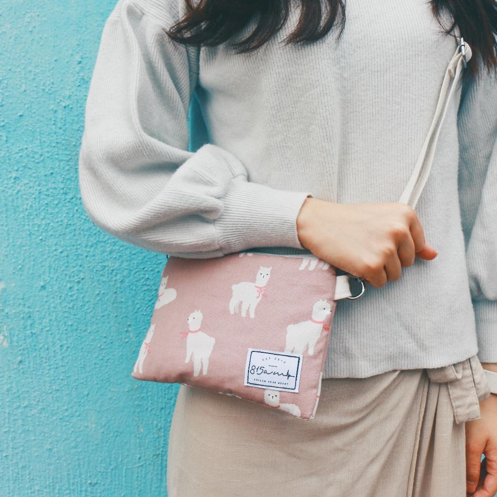 粉紅草尼馬 兩用雜物袋  | 815a.m