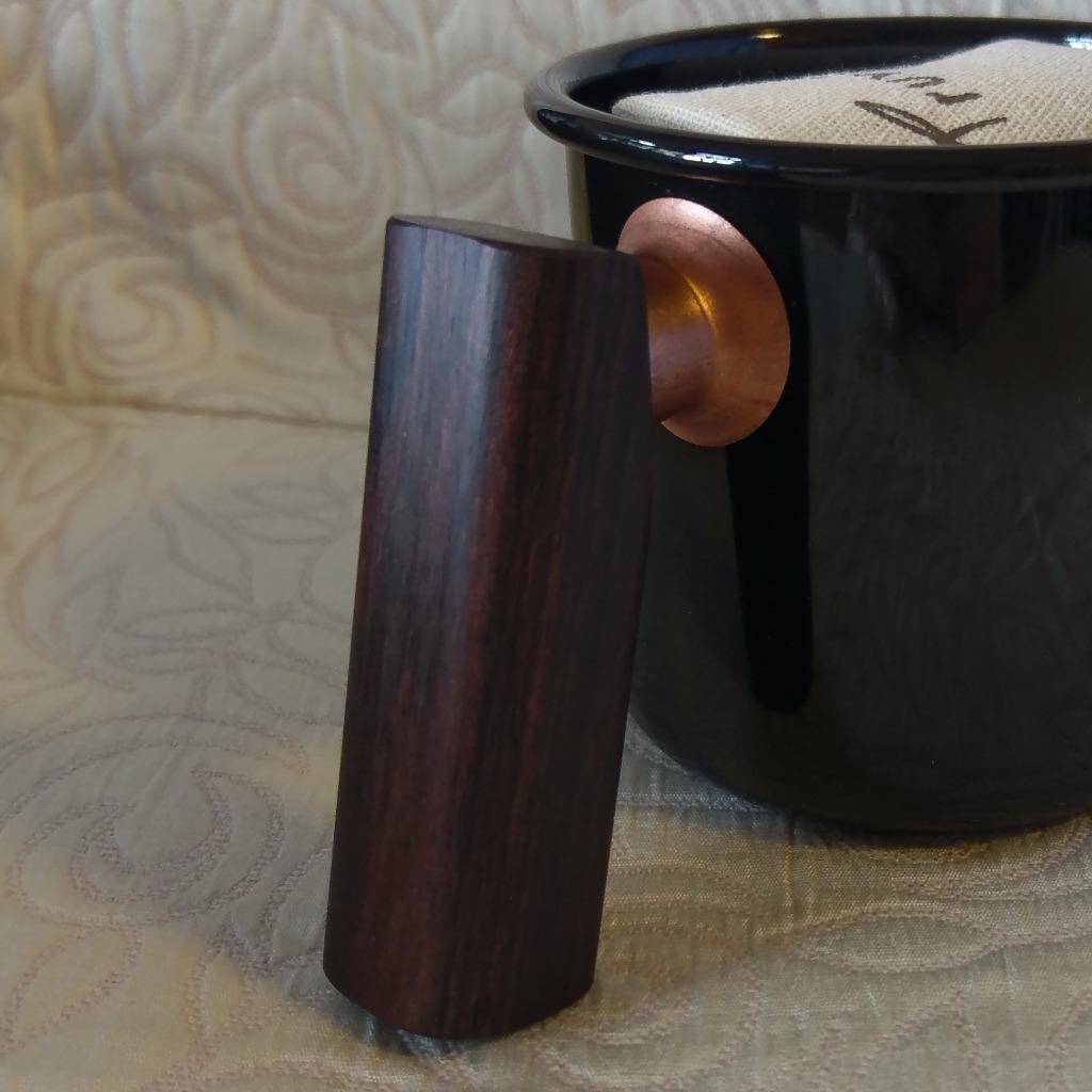 訂製 Truvii 琺瑯杯木柄 - 黑檀木 (加購)