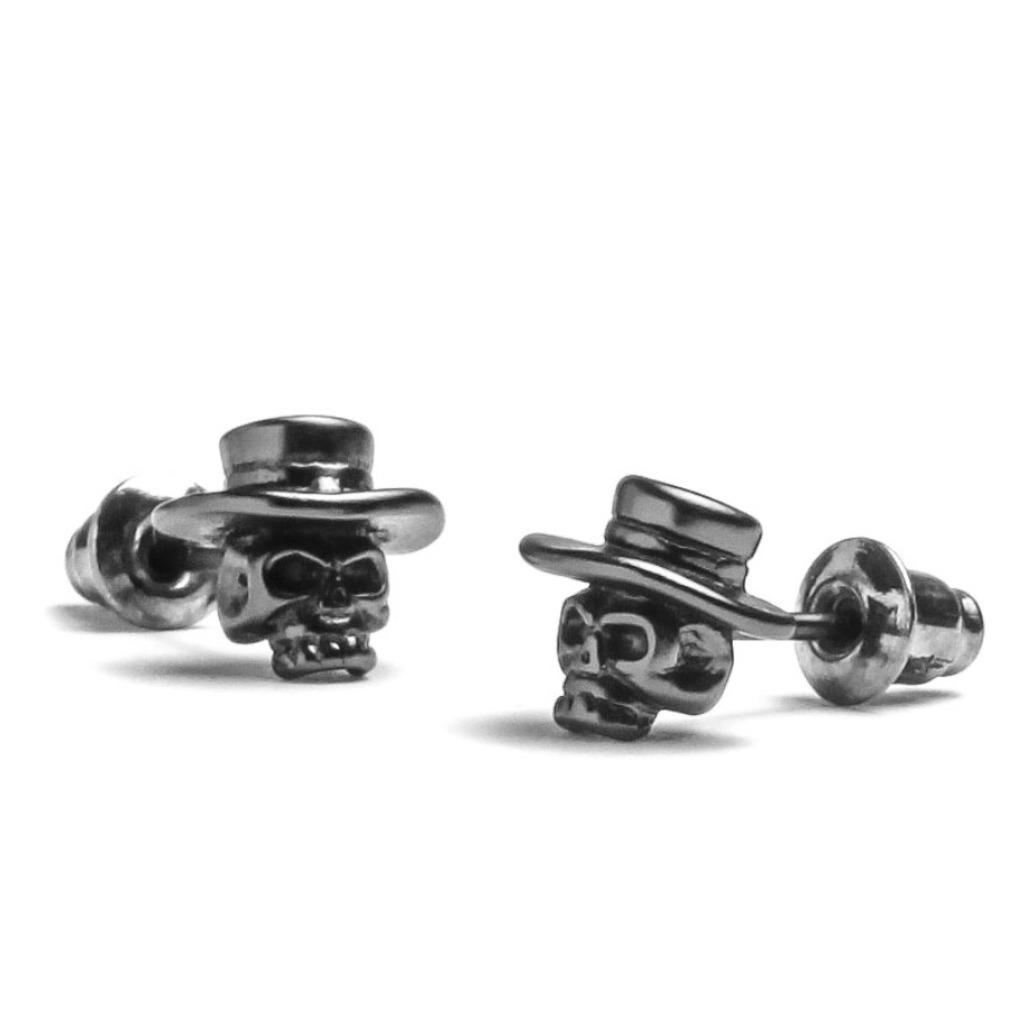 賞想 Dissolve - 骷髏帽耳釘(一對) -銀灰色 208