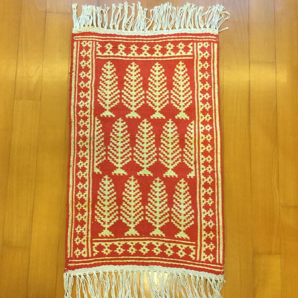 [W Home] 手織地毯 紅黃色
