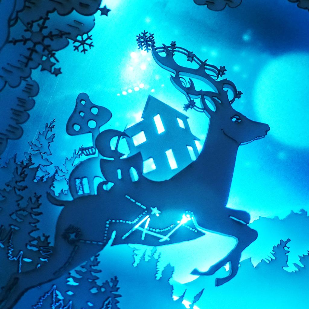 | 光影故事 | 紙雕小夜燈 | 月圓願 | 小鹿島嶼 |