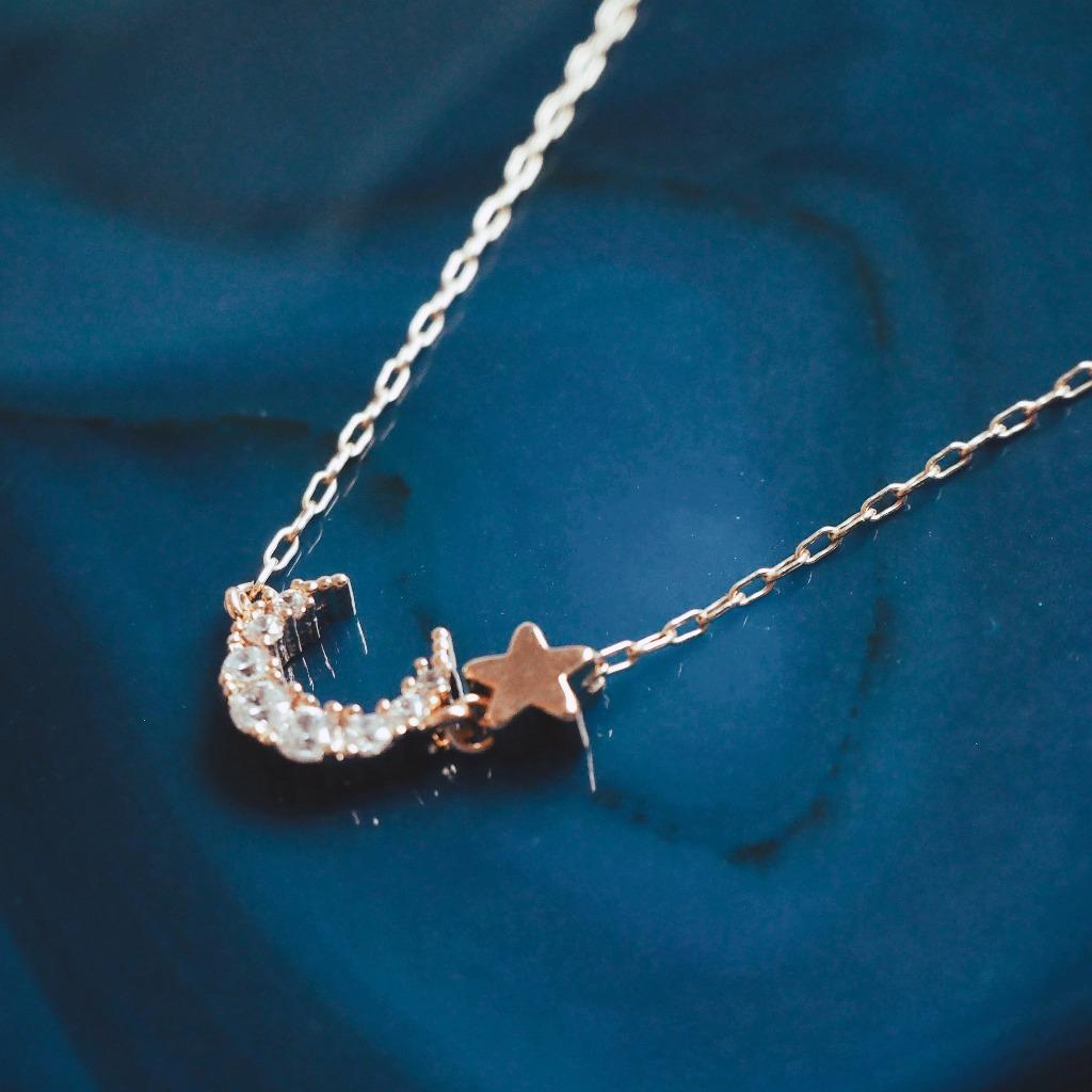 Luna 小半月星星頸鍊