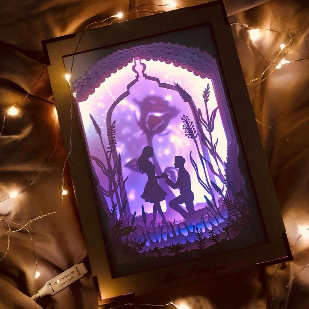   光影故事   紙雕小夜燈   求婚小故事  