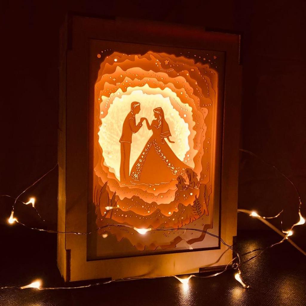 | 光影故事 | 迷你紙雕小夜燈 | 婚嫁星球 |