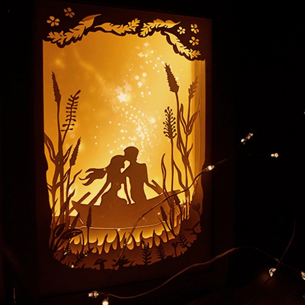 | 光影故事 | 迷你紙雕小夜燈 | 知己小船 |