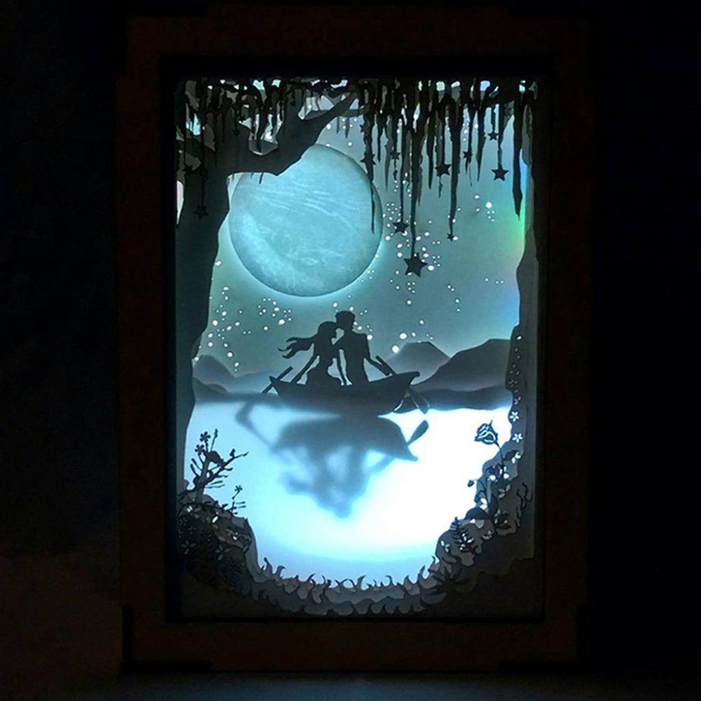 | 光影故事 | 紙雕小夜燈 | 月球下的我們 |
