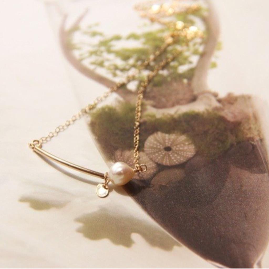 鑽&珍珠項鍊