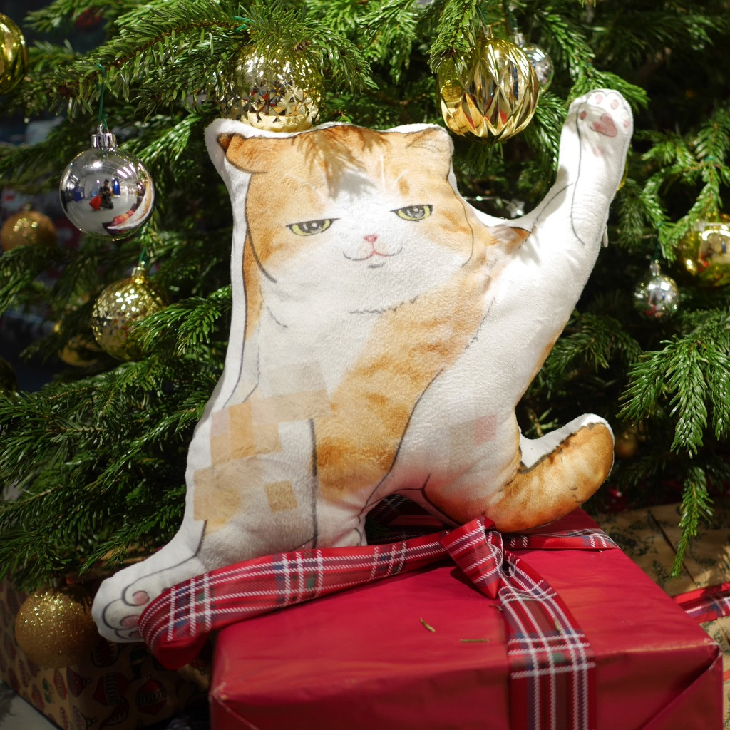 貓抱枕 Cushion-Ginger White