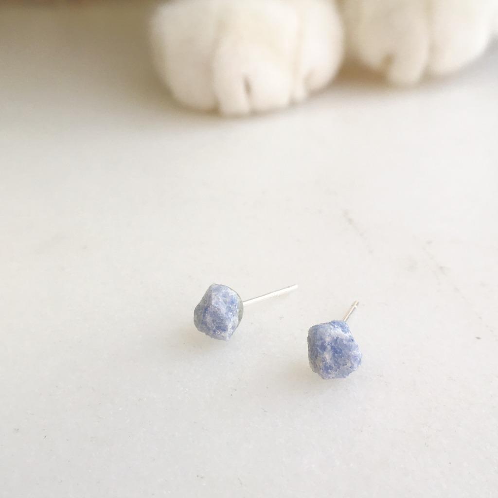 / 小金平 / 藍晶石925純銀耳環
